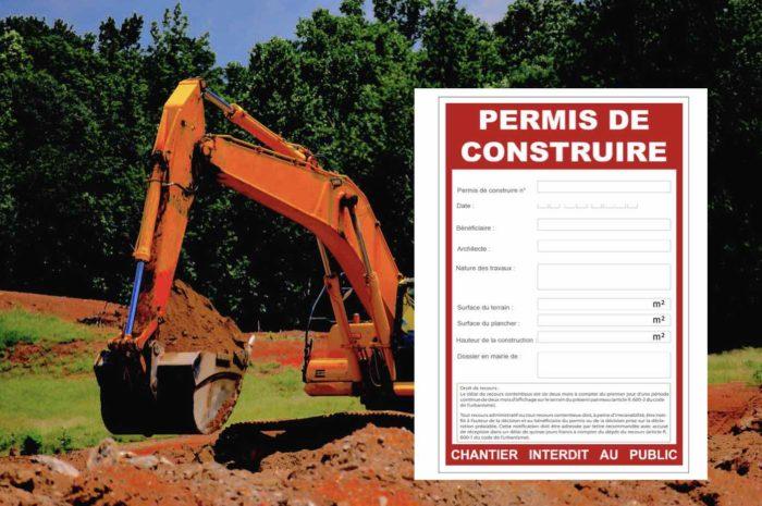 Panneau de chantier permis de construire Cabinet Terrésa